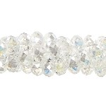 6mm Rondelle Crystal Beads, CRYSTAL AB