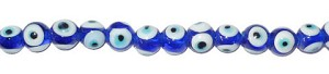 Glass Evil Eye Beads, 14mm Round