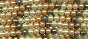 Glass Pearls, 8mm Glass Pearl Beads Strand, Designer Mix