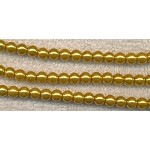Golden Yellow Glass Pearls, 6mm Glass Pearl Beads Strand