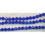 6mm Bicone Beads, SAPPHIRE Glass