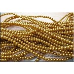 4mm Glass Pearl Round Bead Strand, GOLDEN BROWN