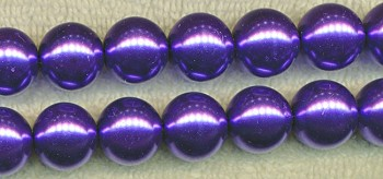 Glass Pearls, 14mm PURPLE