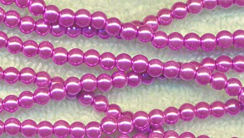 Glass Pearls, 4mm LAVENDER PINK