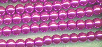 6mm Glass Pearls, LAVENDER PINK Glass Pearl Beads
