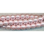 4mm Glass Pearl Round Bead Strand, PALE PINK