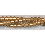 6mm Glass Pearl Round Bead Strand, TOPAZ