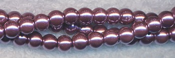 6mm Glass Pearls, PURPLE TWILIGHT Glass Pearls