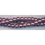4mm Glass Pearl Round Bead Strand, PURPLE TWILIGHT
