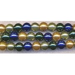 Designer Mix Glass Pearls, 8mm