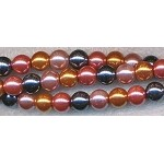 8mm Glass Pearl Round Bead Strand, DESIGNER MIX