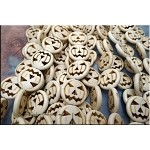 Carved Halloween Pumpkin Jack-o-Lantern Beads, White Magnesite, 20mm - CLEARNCE