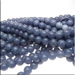 10mm Round Mountain Blue Jade Beads, Gemstone Beads Strand