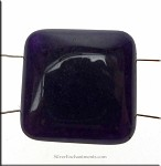 Dark Purple Jade Separator Beads, 22mm 2-Hole Gemtone Jewelry Parts (1)