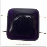 Dark Purple Jade Separator Focal Bead, 22mm, Gemstone