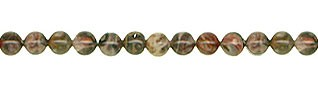 Leopardskin Jasper Beads, 4mm Round