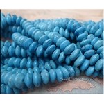 8mm Rondelle Howlite Turquoise Beads