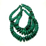 Green Turquoise Graduated Rondelle Necklace Beads - CLEARANCE