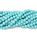 10mm Round Turquoise Beads, Magnesite Beads