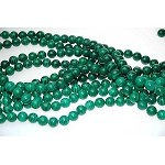 10mm Round Synthetic Malachite Beads, CLOSEOUT