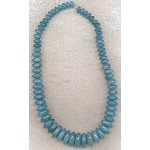 Angelite Beads Graduated Rondelle Beads 8mm to 18mm, Angelite Gemstone Beads