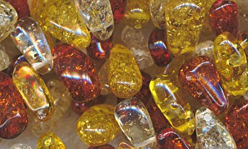 Amber Resin Beads, Top Drilled Nugget Amber Beads, Imitation Amber Nuggets