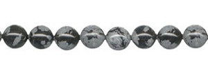 Snowflake Obsidian Beads, 6mm Round
