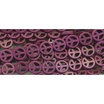 Peace Sign Beads Purple Dyed Magnesite 15mm