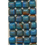 Composite Turquoise Cabochons, Calibrated Gemstone Cabs, 14mm (5pc)