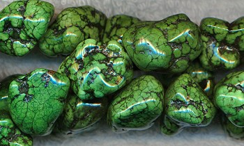 Green Turquoise Magnesite Nuggets, avg18x14x12mm