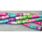 4mm Mixed Color Magnesite Heishe, Wafer Disc Beads Strand