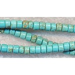 5mm Turquoise Heishe Beads Strand