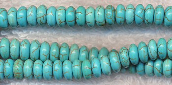 Turquoise Magnesite 6mm Rondelle Spacer Beads