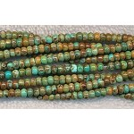 Natural Green Turquoise Beads, 4mm Rondelle Beads
