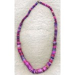 Multicolor Graduated Heishe Gemstone Necklace Beads