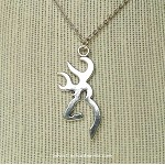 Large Deer Necklace, Large Buck Stag Jewelry