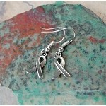 Silver Small Ribbon Earrings - Everyday Awareness Jewelry