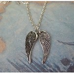Double Angel Wings Necklace - Everyday Silver Angel Wing Jewelry
