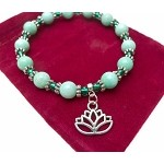 Lotus Bracelet, Beaded Lotus Flower Jewelry
