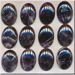 Dark Amethyst Cabochons, Calibrated 22x30mm Oval Cabs (1)