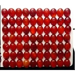 Red Agate Carnelian Cabochon, Calibrated Oval Cab, 8x10mm