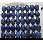 Sodalite Cabochon, Calibrated Natural Blue Sodalite Oval Cab, 10x14mm