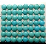 Magnesite Turquoise Cabochon, Calibrated Coin Gemstone Cab, 10mm