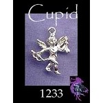 Sterling Silver Cupid Charm, Angel Jewelry