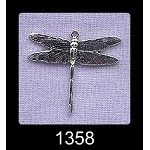 Sterling Silver Dragonfly Charm Pendant, 23x26mm
