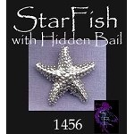 Sterling Silver Dimensional StarFish with Hidden Bail