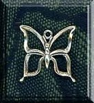 Sterling Silver Butterfly Charm, 16x17mm