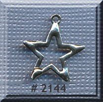 Sterling Silver Star Charm, 17x16mm Star Jewelry