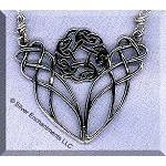 Sterling Silver Celtic Love Knot Necklace Y Centerpiece, CLOSEOUT