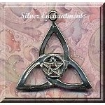 Sterling Silver Triquetra with Pentacle Pendant, Triquetra Pentacle Necklace